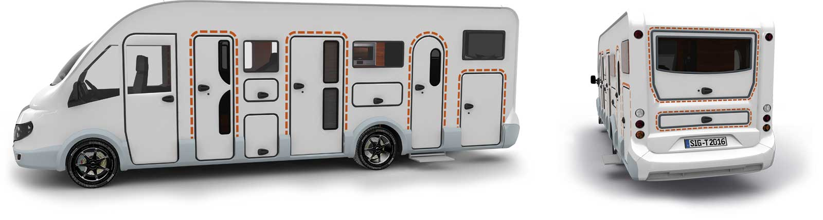 Satisfied tegos customers with Sunlight caravans and RVs